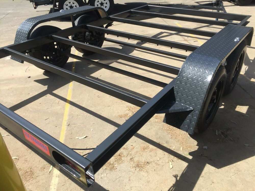 Car trailer frame tandem axle 12x6 6ft 2t use4 race no for Tandem flooring