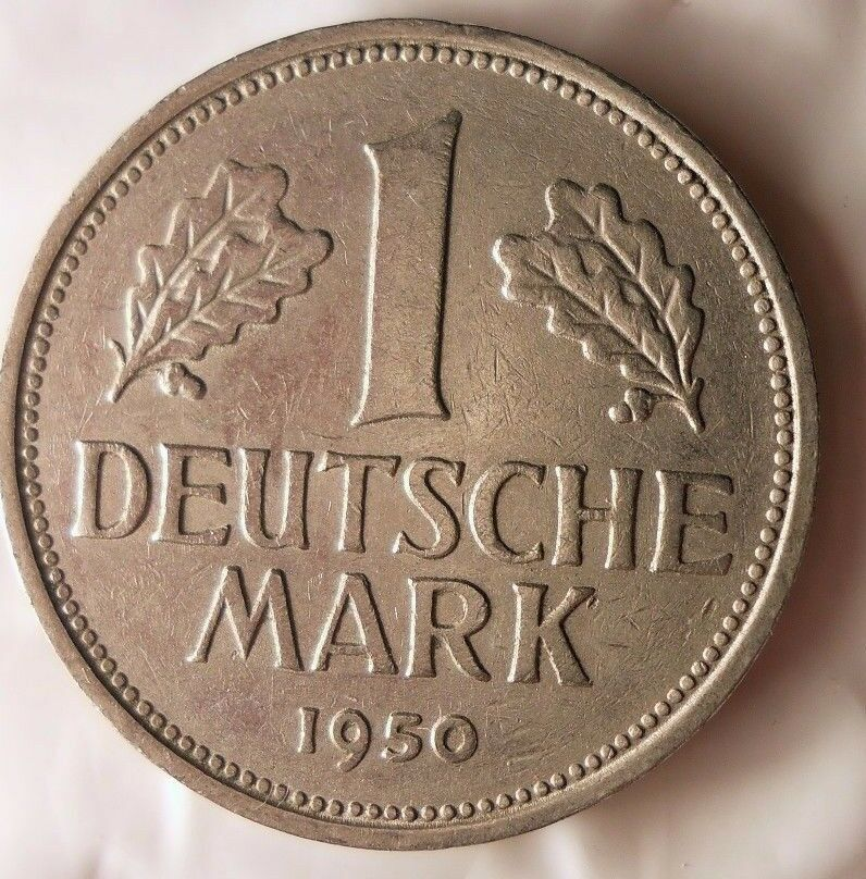 1950 f germany deutsche mark excellent vintage coin. Black Bedroom Furniture Sets. Home Design Ideas