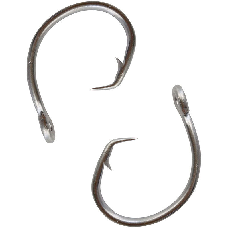 10 40pcs 39960 stainless steel fishing hooks tuna circle for Giant fish hook