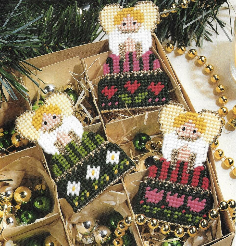 Angel Ornaments To Stitch Pattern Only Plastic Canvas