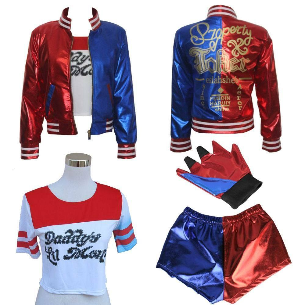 dc comics suicide squad harley quinn costume outfit full. Black Bedroom Furniture Sets. Home Design Ideas