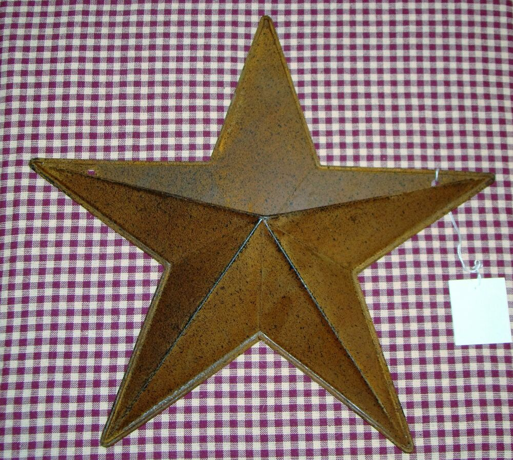 rustic primitive rusty tin 12 pocket barn star home decor