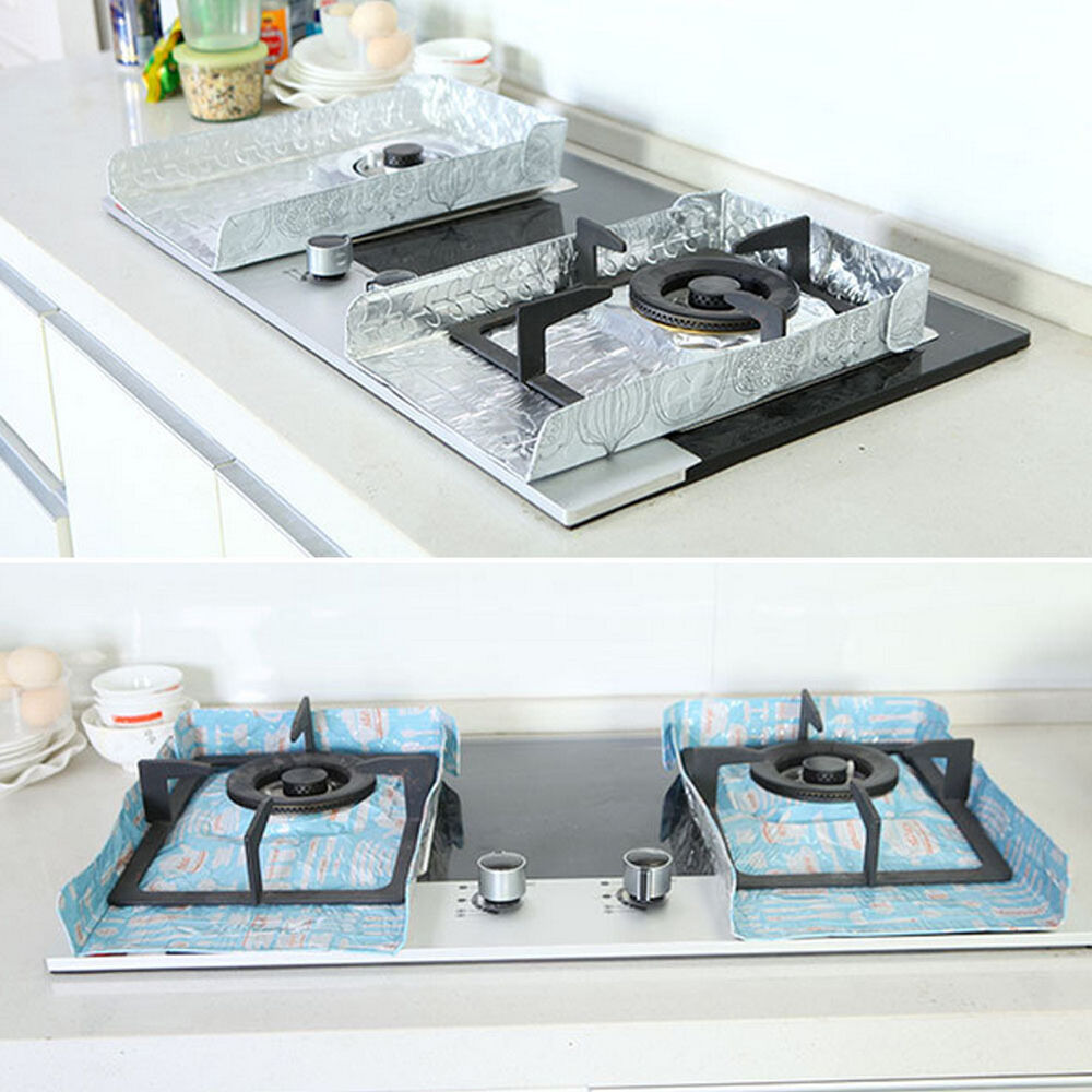 Aluminum foil gas stove cover clean perfect kitchen anti for Perfect kitchen cleaner