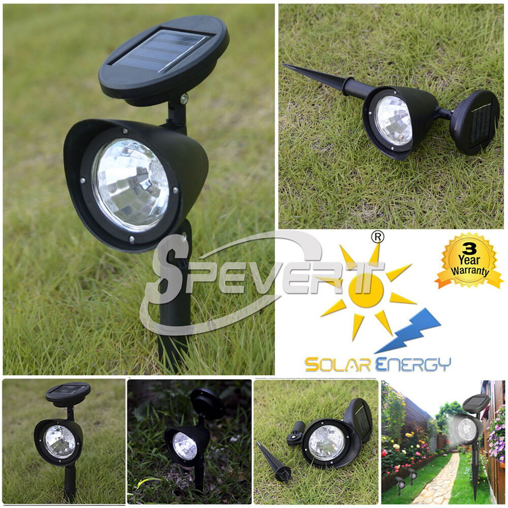 Solar Landscape Lights Outdoor: Lots 4 LED Solar Spot Light Outdoor Garden Lawn Landscape