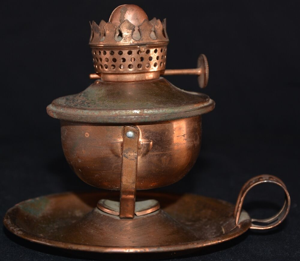 Wall Kerosene Lamps : Miniature Copper Plated Steel Oil Kerosene Lamp Wall Mount or Table Top Vintage eBay
