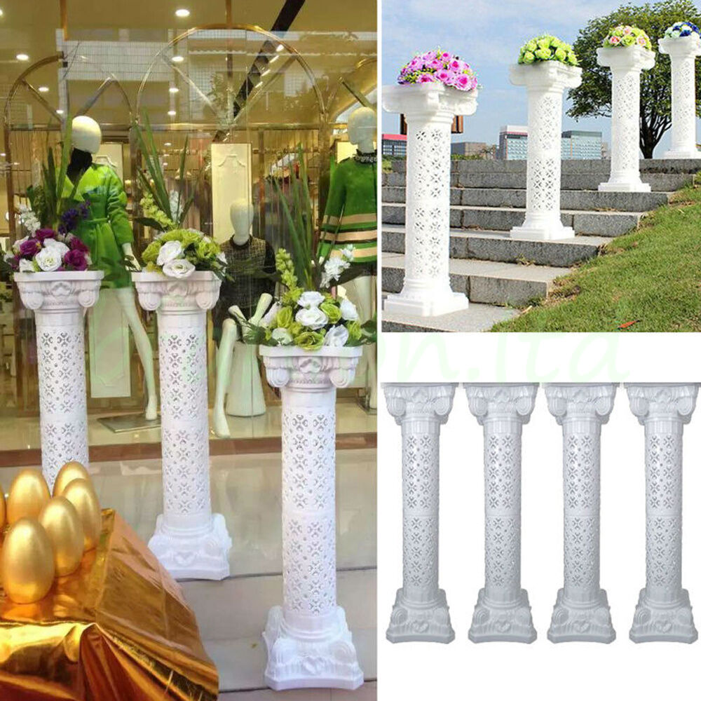 Wedding Flower Pillars: Plastic Roman Pillars Column Pedestal Flower Ball Stand