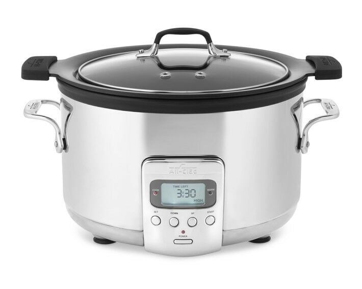 all clad sd712d51 deluxe slow cooker with black cast aluminum insert 4 qrt new ebay. Black Bedroom Furniture Sets. Home Design Ideas