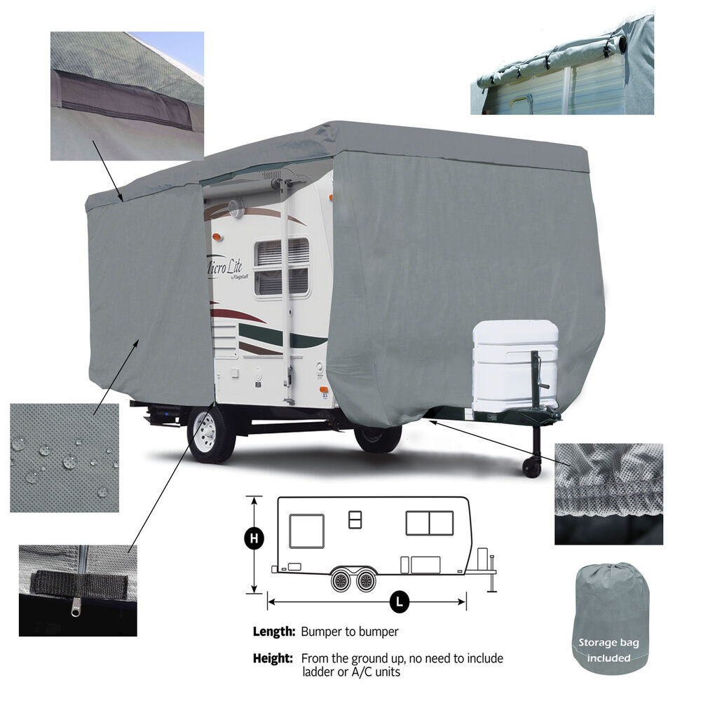 Trailer Access Door : Deluxe lance travel trailer camper cover w zipper