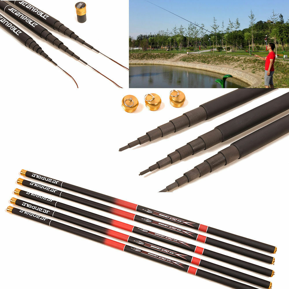 portable telescopic retractable fishing pole carbon fiber