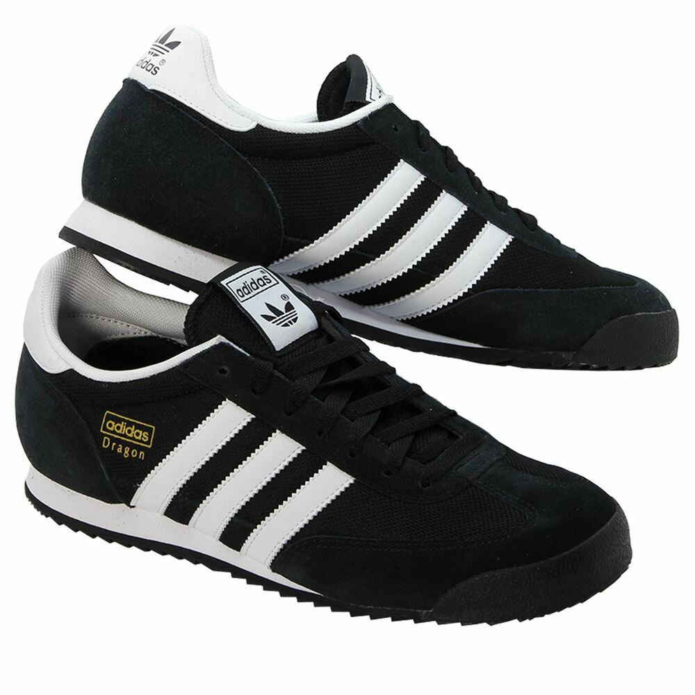 premium selection 6bee5 00c37 Details about ADIDAS ORIGINALS MENS DRAGON TRAINERS CASUAL SMART RUNNERS SHOES  BLACK WHITE