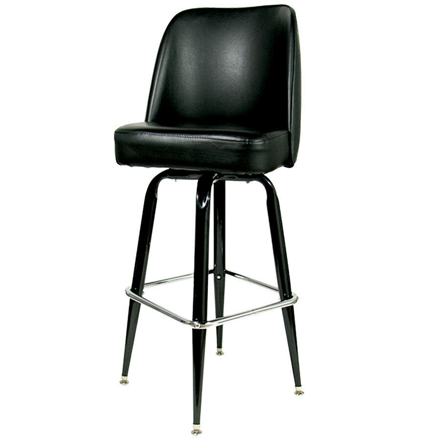 42 Quot Black Swivel Bar Stool With Waterfall Bucket Seat