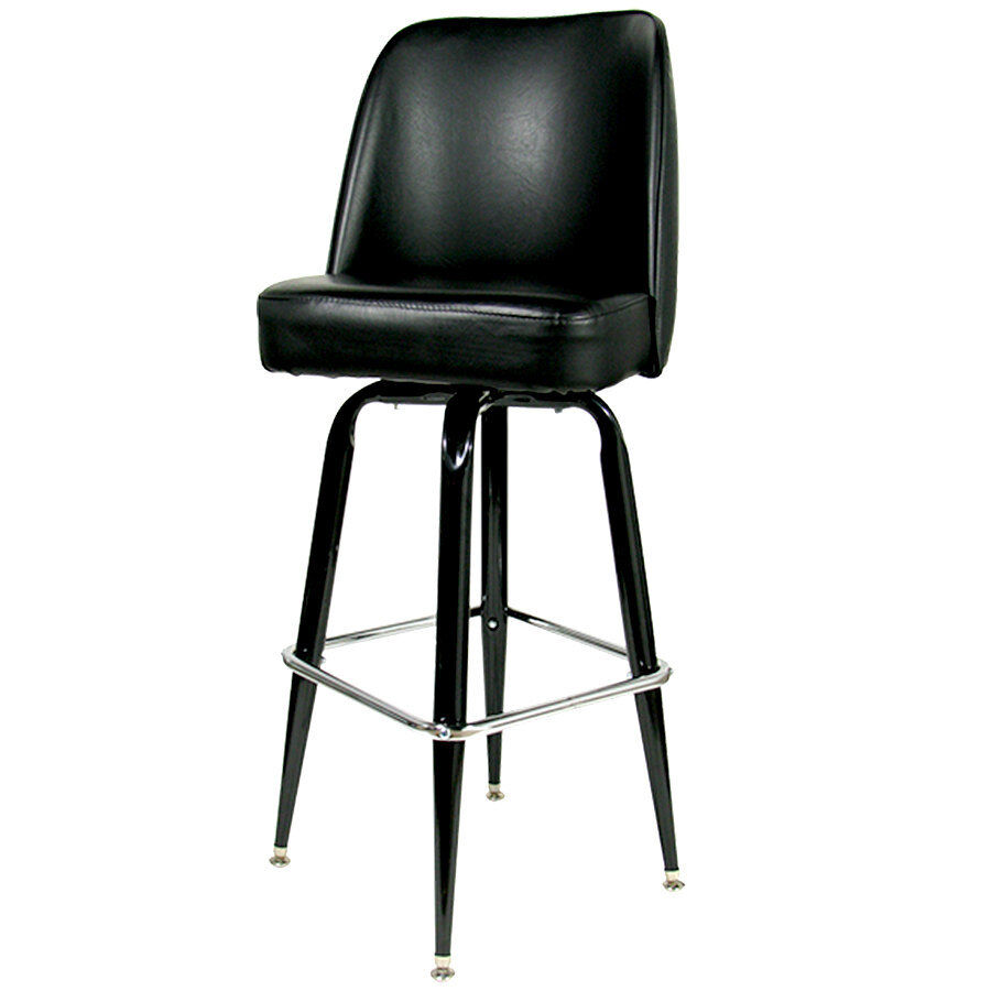 42 black swivel bar stool with waterfall bucket seat. Black Bedroom Furniture Sets. Home Design Ideas