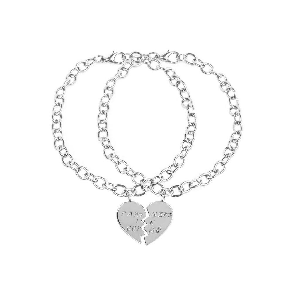 Best Friend Charm Bracelet: Lux Accessories Partners In Crime BFF Best Friends Heart