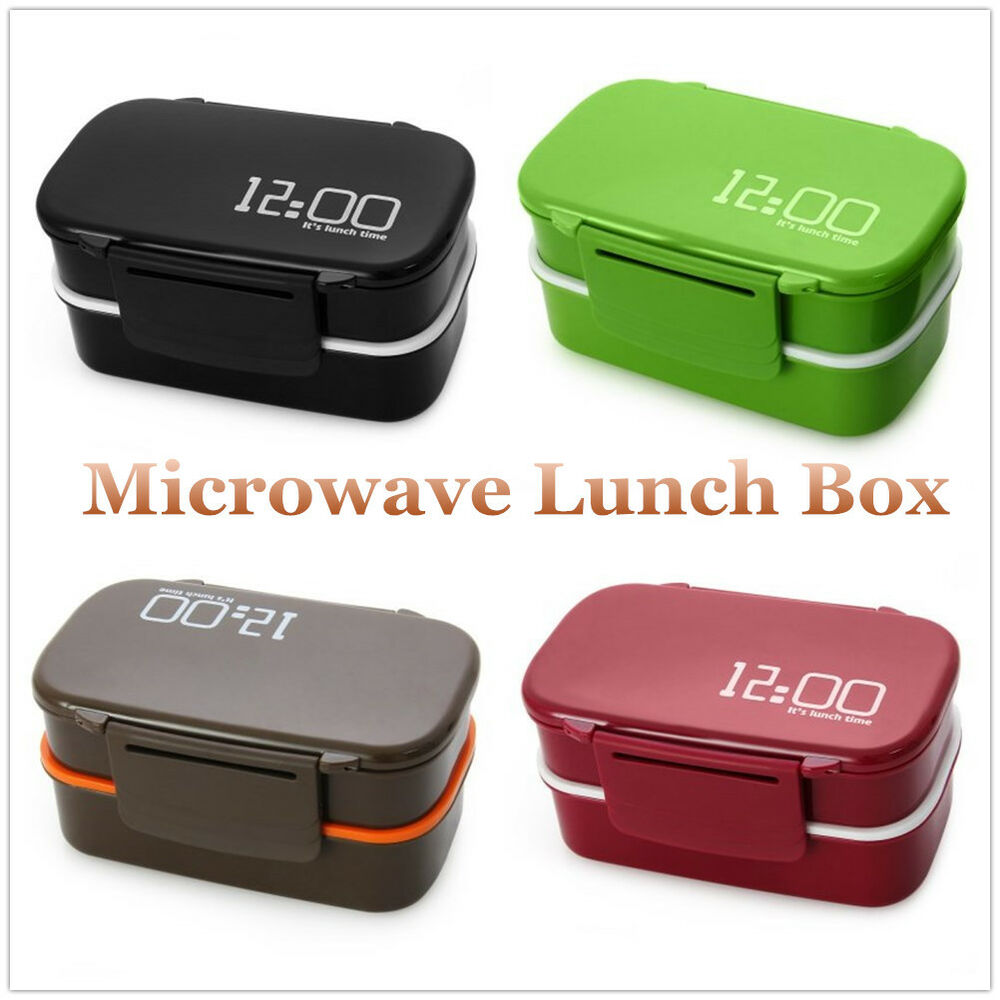 japan style 2 layers lunch box bento food container tableware microwave ius ebay. Black Bedroom Furniture Sets. Home Design Ideas