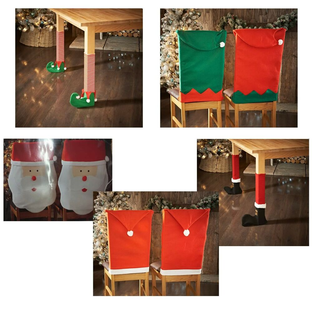 Elf Or Santa Hat Chair Amp Table Leg Covers Christmas Table