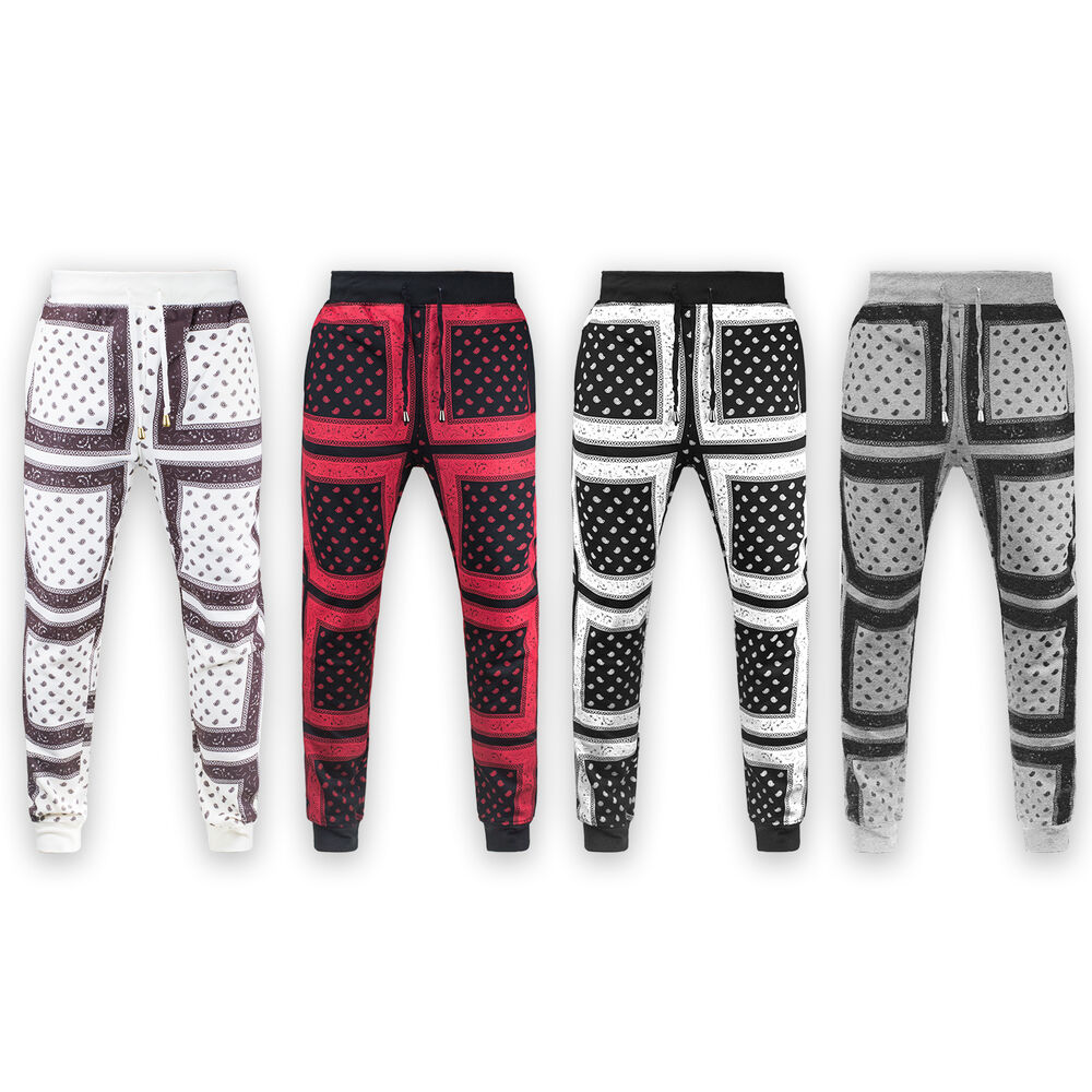 new product 27fa5 4dc9b Details about NEW Mens BANDANA joggers strings red balck white gray S-3xL  ALL JORDAN SHOE