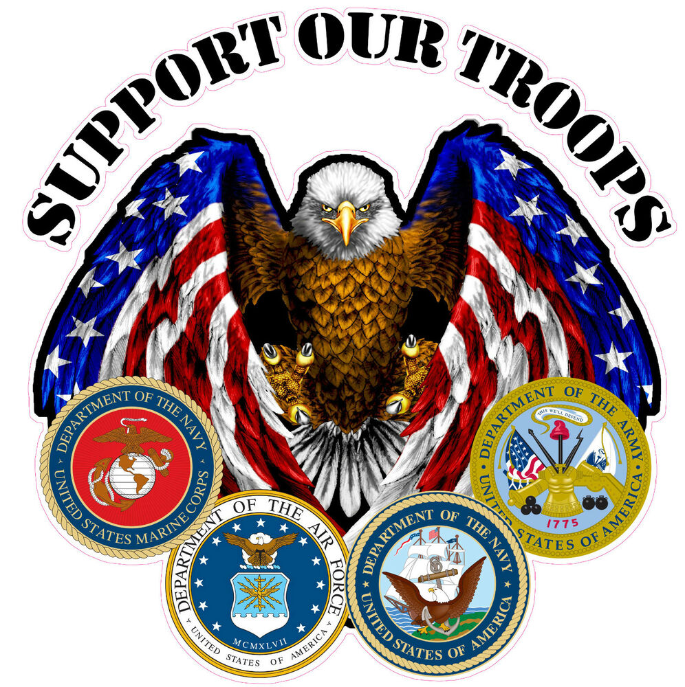 Support Our Troops Xxx Large Rv Trailer Graphics Decal Is