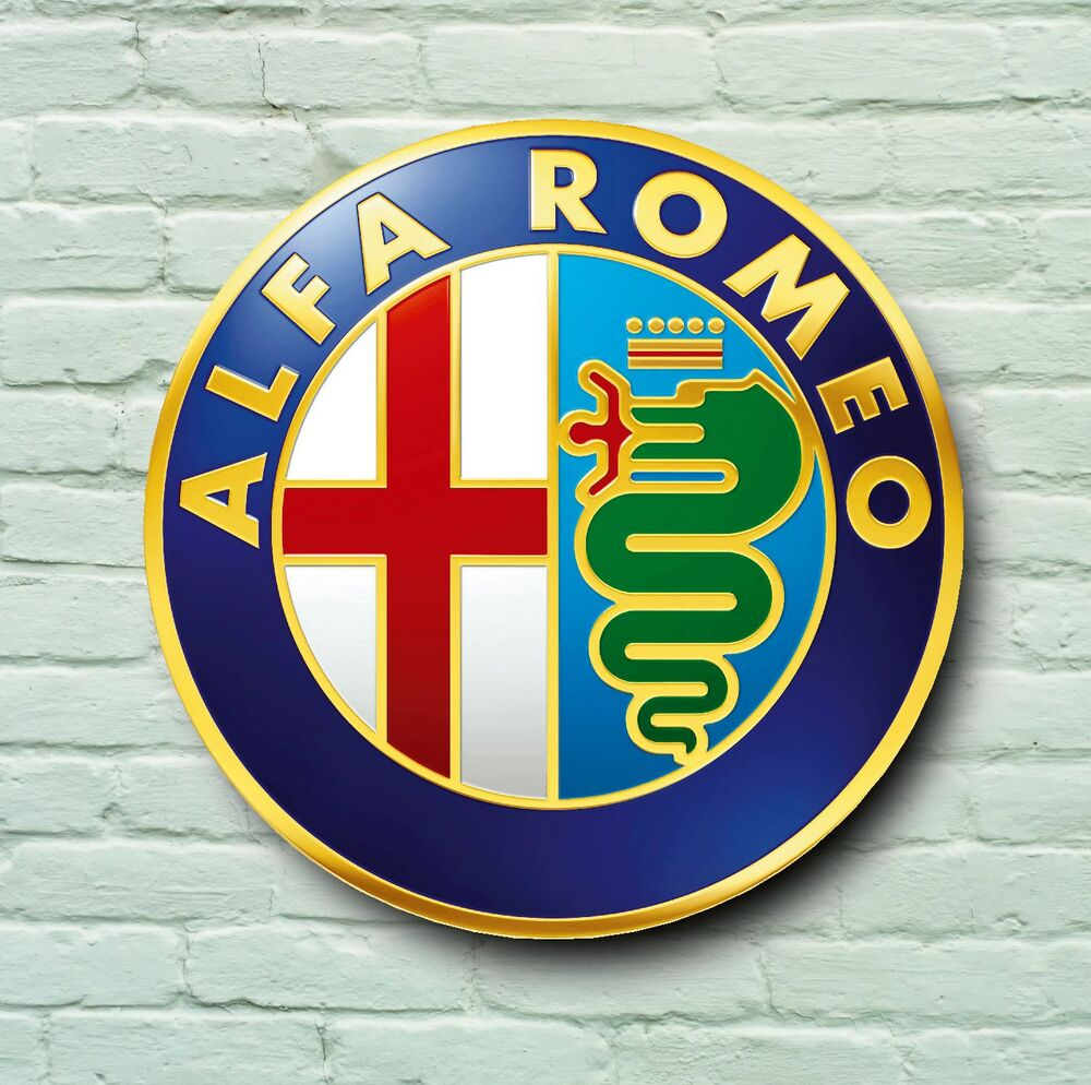 ALFA ROMEO LOGO 2FT LARGE GARAGE SIGN WALL PLAQUE CLASSIC