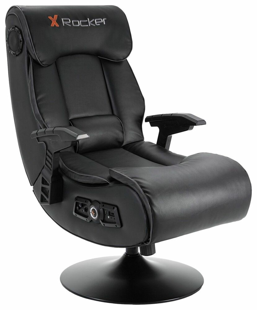 Bluetooth Gaming Chair X-Rocker Elite Pro 2.1 Audio Faux Leather Gaming Chair | eBay