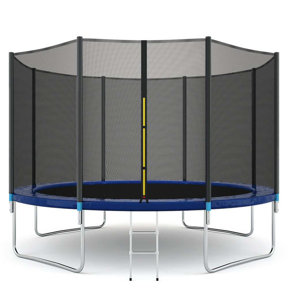 New 14ft Trampoline Combo Bounce Jump Safety Enclosure Net