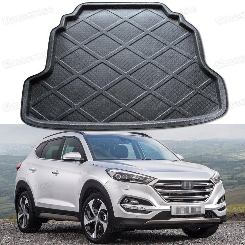 Black Car Rear Trunk Mat Cargo Boot Liner Tray For Hyundai Tucson 2016 2017 Up Ebay