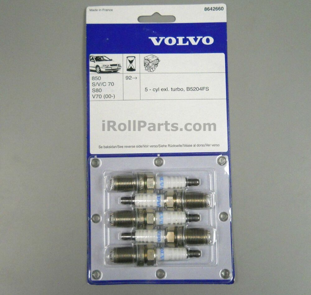 300zx Non Turbo Spark Plugs: OEM Volvo Spark Plugs Set 5 Cyinder Non-Turbo Engines