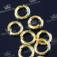 Lot 300pcs Gold Plated Copper Open Split Jump Ring Jewelry Finding 4mm