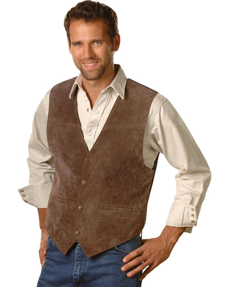 Scully men s suede leather vest 504 67 ebay