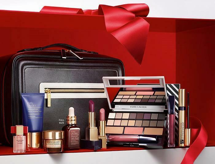 Estee lauder holiday blockbuster makeup kit gift set smoky