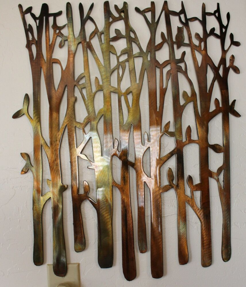 Birch tree metal wall art by hgmw ebay for Artwork for wall decoration