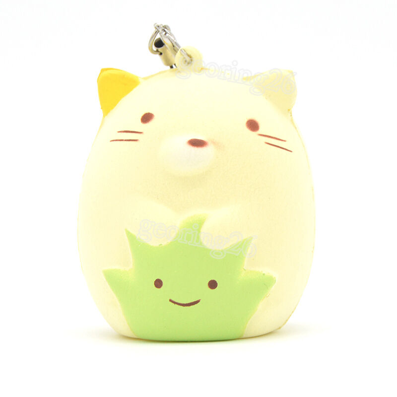 Squishy Toys Cats : Squishy Cartoon Sumikko Gurashi Cat Soft Cellphone Straps Toy Fun Doll Charms eBay