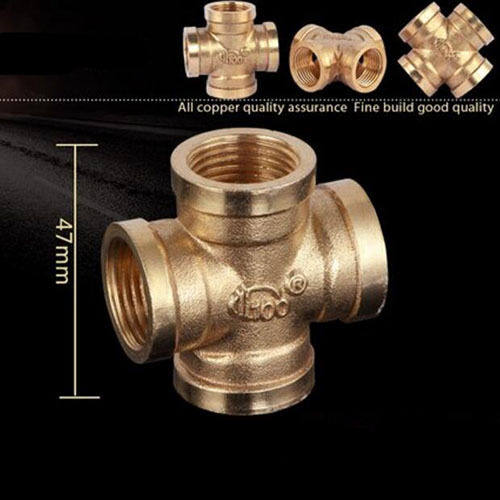 1 2 39 39 gas pipe fittings 4 way female connector quality for Copper water pipe connectors