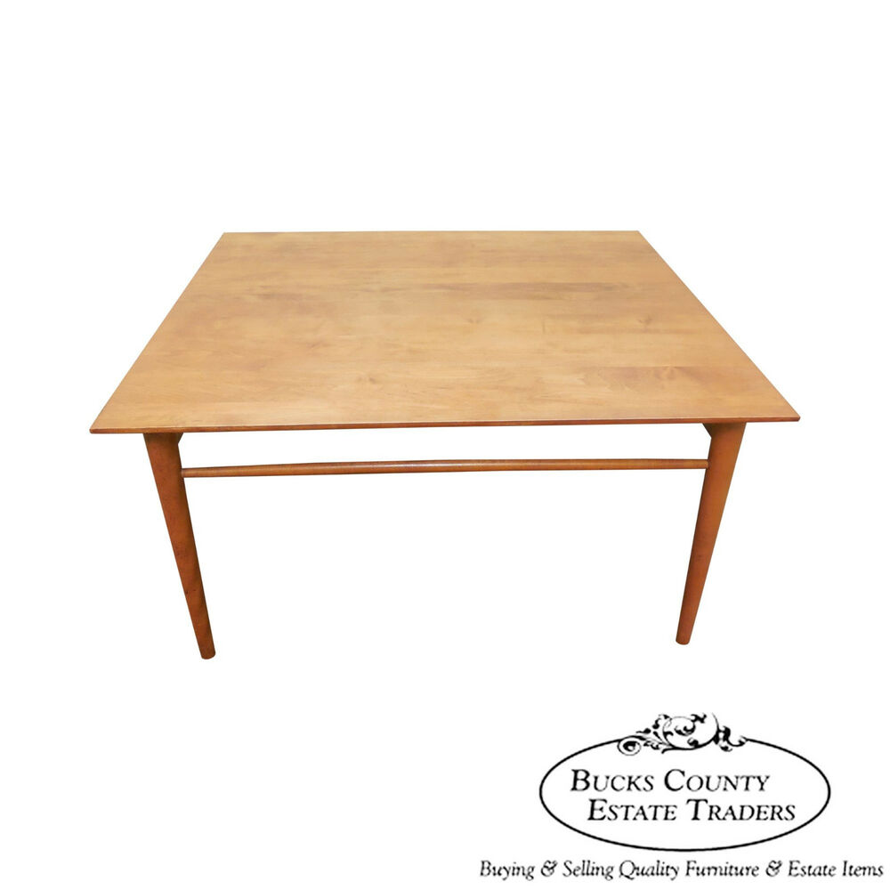 ffd51eb7acd8 Details about Paul McCobb Mid Century Modern Maple Square Coffee Table