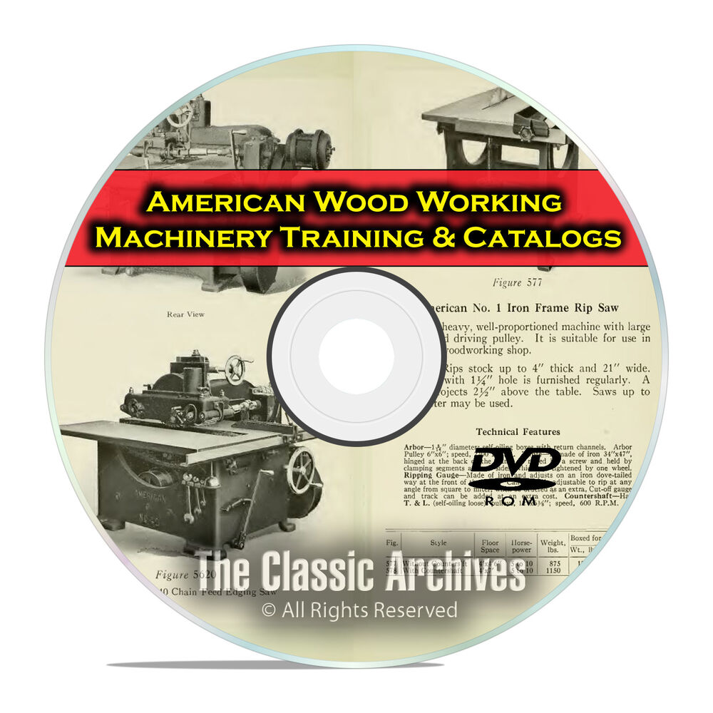 American Woodworking Machinery for Vocational Training, Vintage Catalogs DVD F33 | eBay