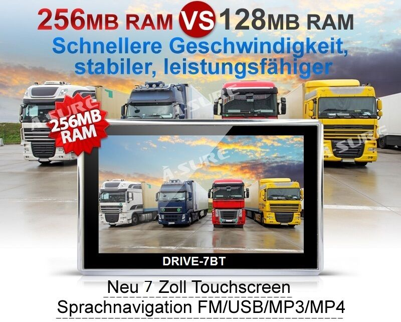 7 zoll gps navigationsger t mit r ckfahrkamera f r pkw lkw. Black Bedroom Furniture Sets. Home Design Ideas