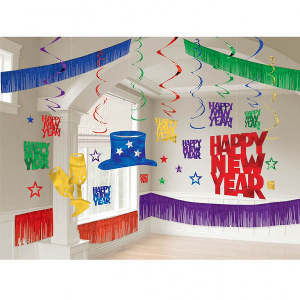 Large pub new year party room decorating kit wall for Room design kit