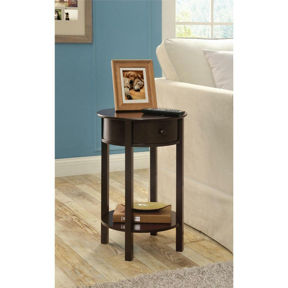 sofa table with storage accent tables for small spaces round living room new ebay. Black Bedroom Furniture Sets. Home Design Ideas