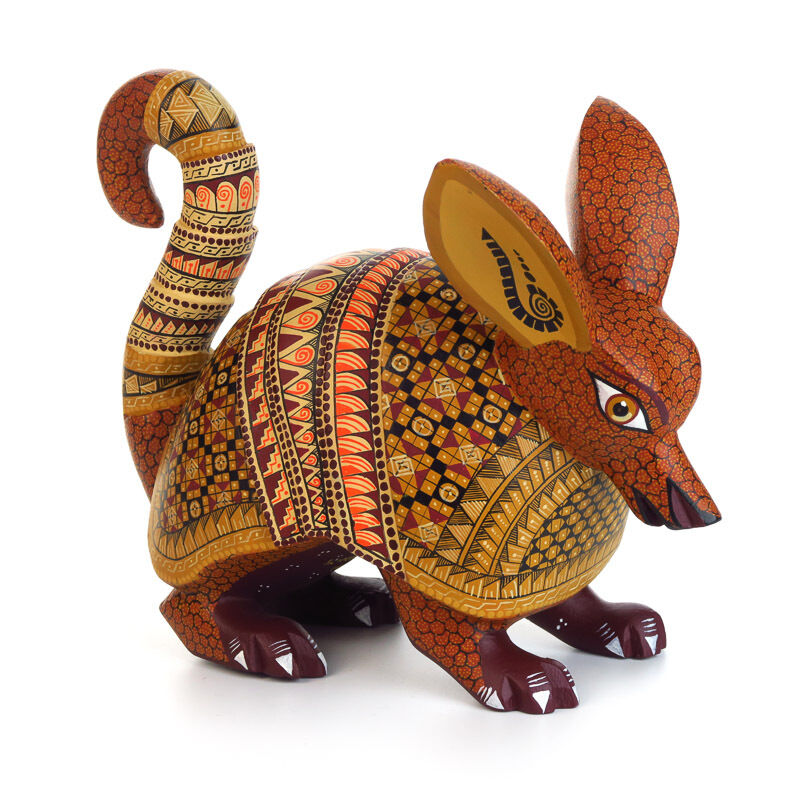 Armadillo oaxacan alebrije wood carving handcrafted