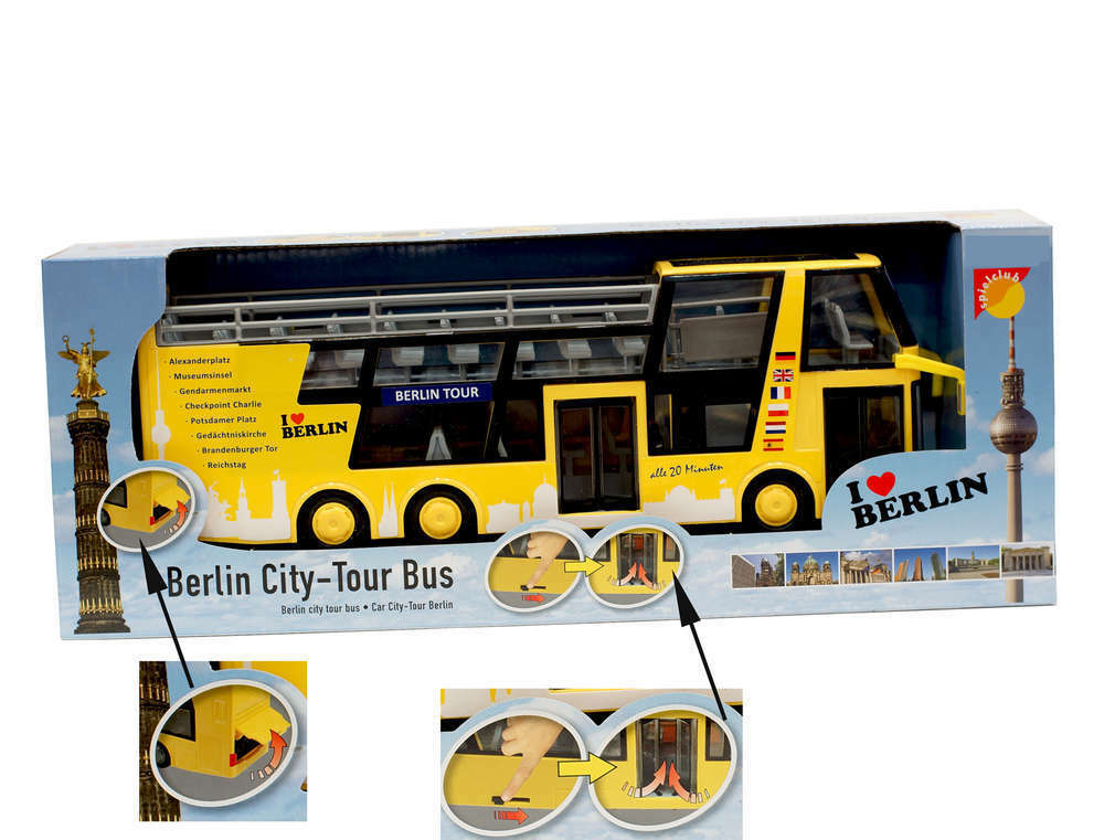 berlin city tour bus miniatur modell spielbar neu ovp spielzeug doppeldecker ebay. Black Bedroom Furniture Sets. Home Design Ideas