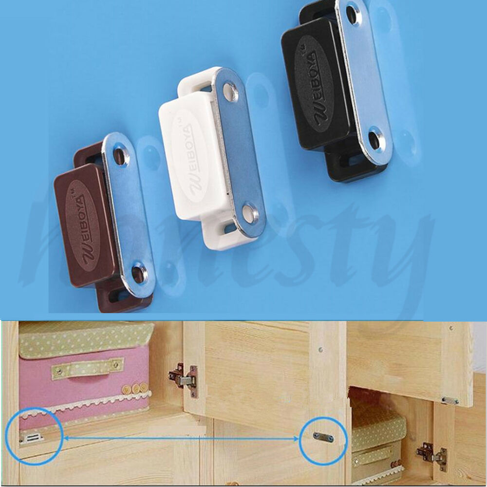 2 /4/10pcs Magnetic Door Catches For Kitchen Cabinet ...