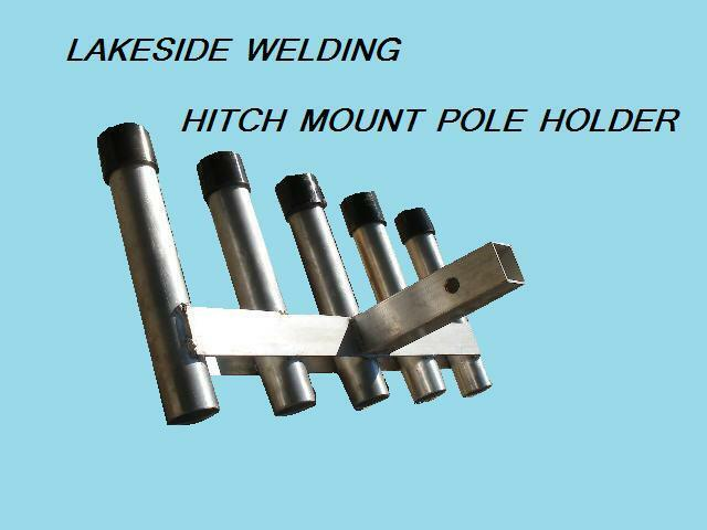5 rod hitch mounted aluminum fishing pole holder car truck for Hitch fishing rod holder