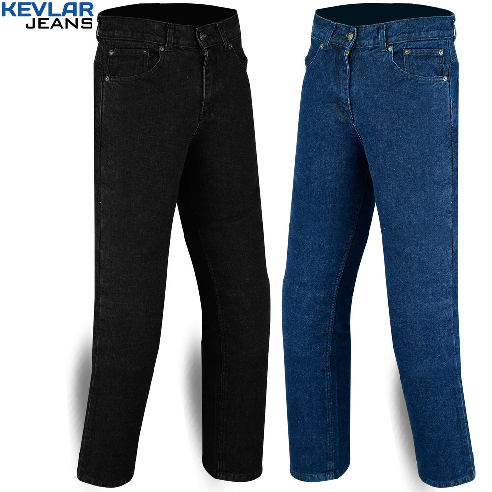 mens motorcycle stretch jeans with protective kevlar lining size 30 to 42 ebay. Black Bedroom Furniture Sets. Home Design Ideas