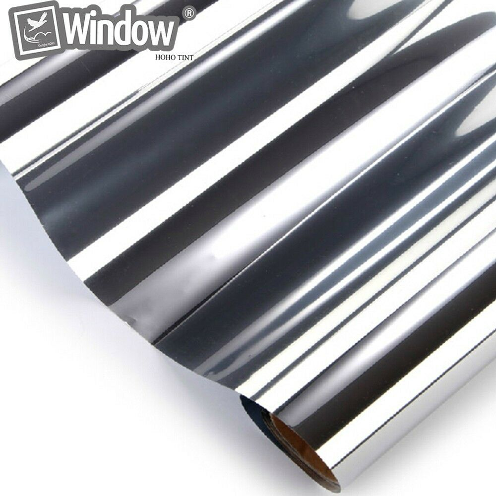 Mirror one way silver window film cling 20 vlt privacy for Window tint film