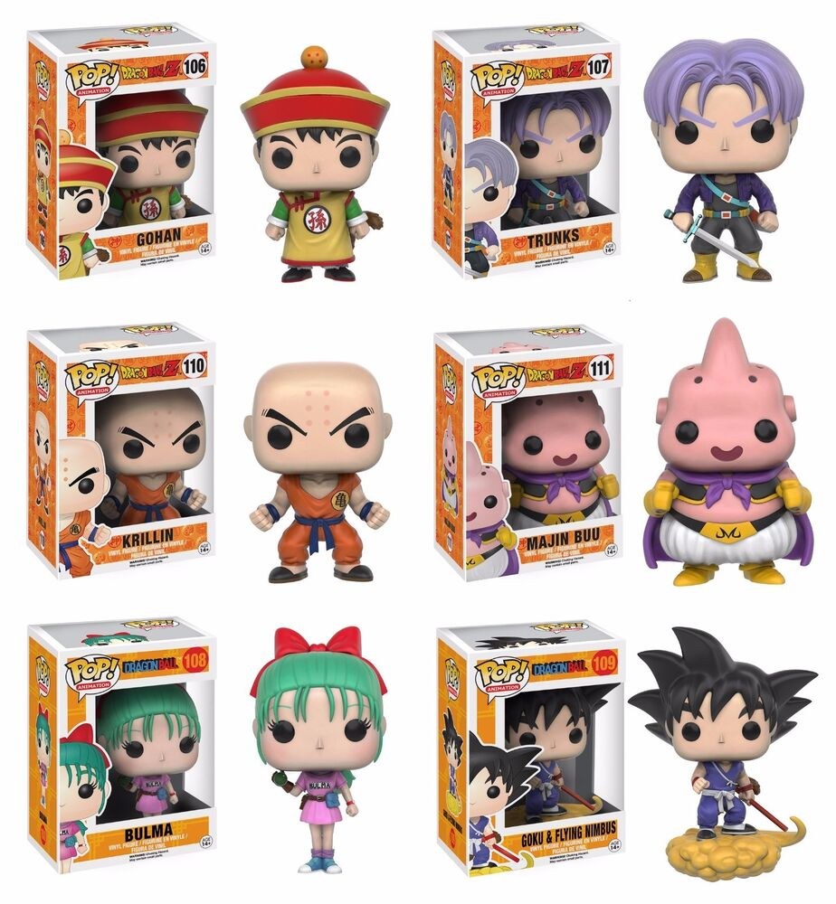 Funko Pop Dragon Ball Z Set Of 6 Vinyl Figures Pop 106