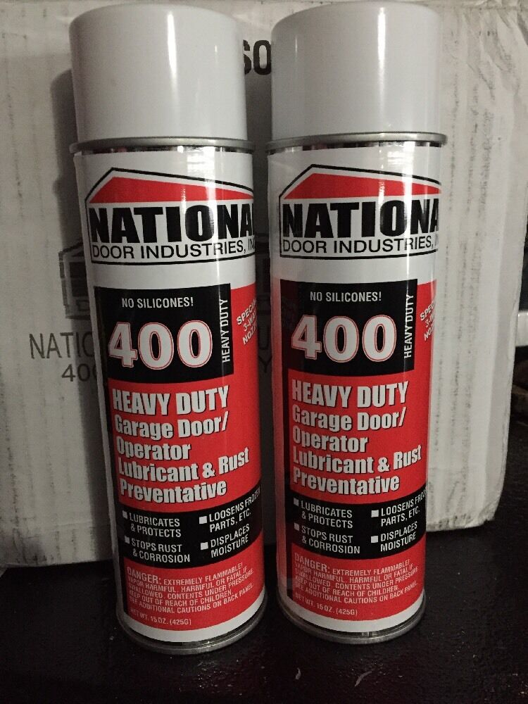 Brand New 2 Cans 400 Hd National Door Lube Lubricant