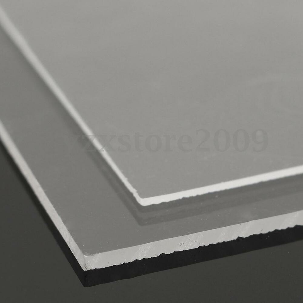 1 2mm transparent perspex sheet cut to size plastic plexiglass panel acrylic diy ebay. Black Bedroom Furniture Sets. Home Design Ideas