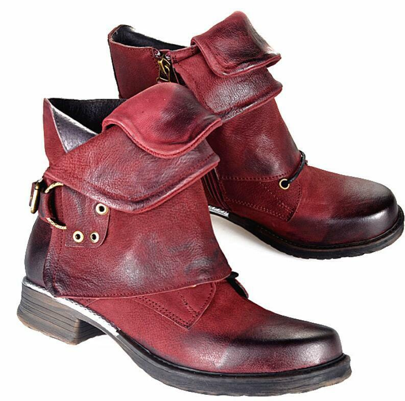 Women's Leather Lace up Ankle Boots