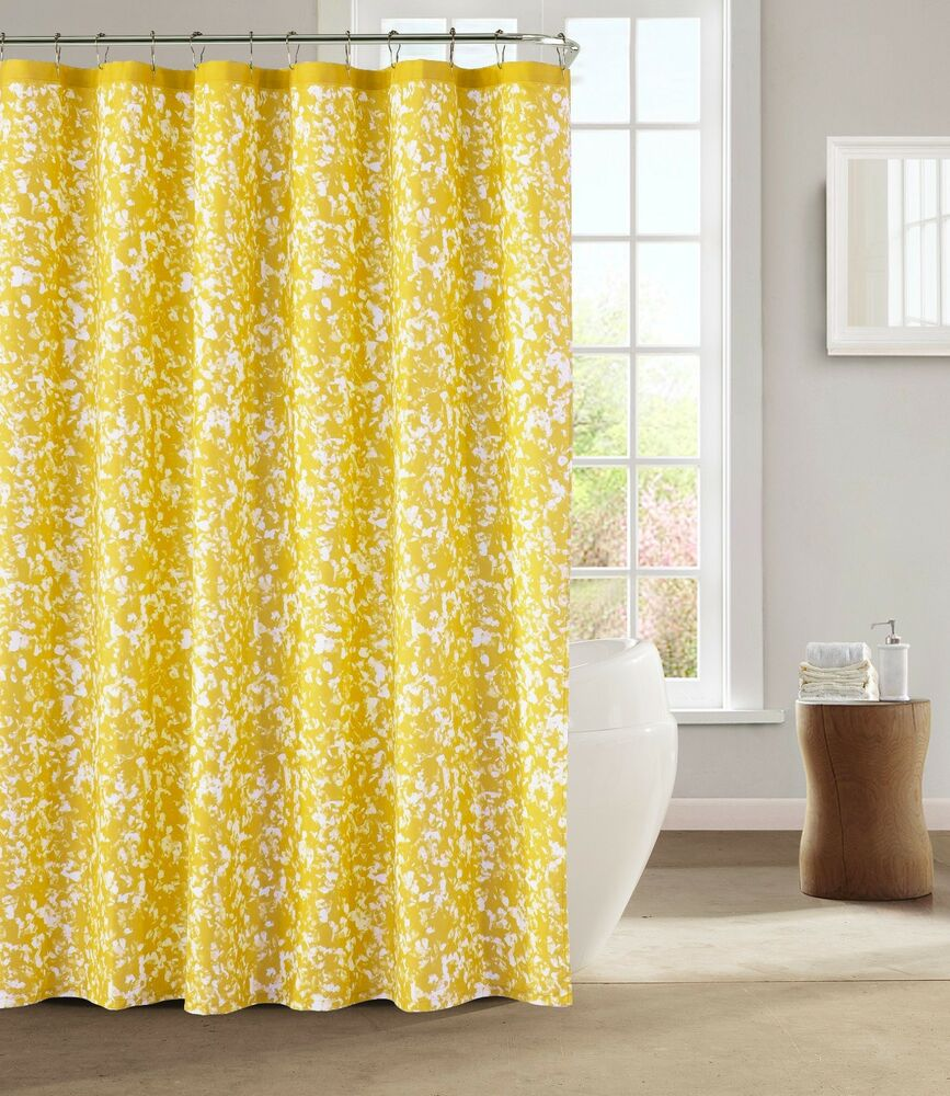 cloth shower curtains kensie yellow white decorative modern chic fabric 29216