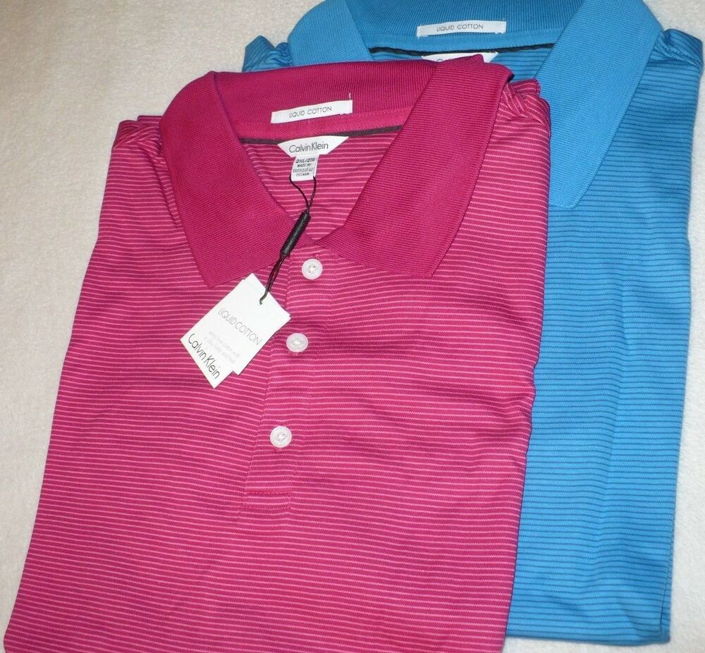 69 new nwt calvin klein mens big tall polo shirt size for Mens shirts tall sizes
