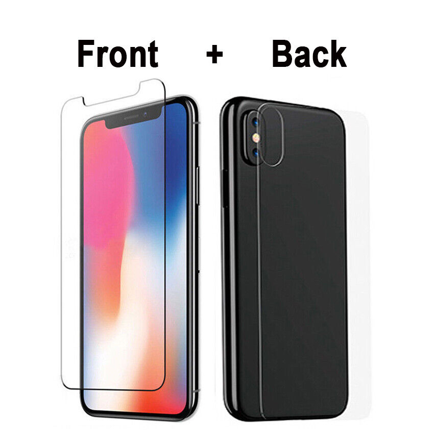 front back tempered glass screen protector for iphone x xs. Black Bedroom Furniture Sets. Home Design Ideas